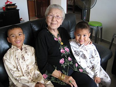 The Kids With Their Great Grandmother
