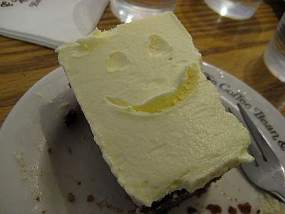 My half eaten carrot cake with a smile..