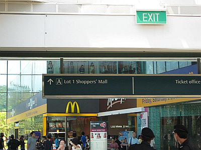 At the exit of the Train Station