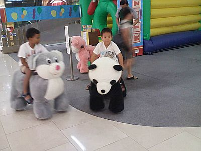 A Dog and A Panda..